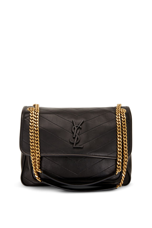 Saint Laurent Niki Monogram Black Leather Medium Chain Bag