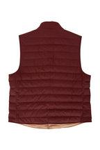 Brunello Cucinelli - Burgundy Nylon Puffer Vest