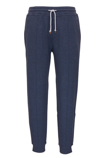 Brunello Cucinelli - Denim Blue Stretch Cotton Jogger