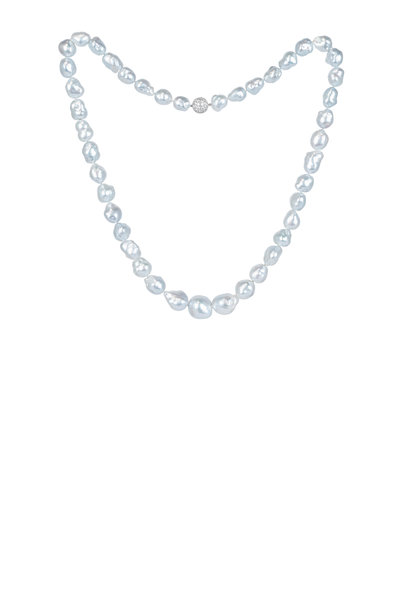 Assael - 18K White Gold Baroque South Sea Pearl Necklace