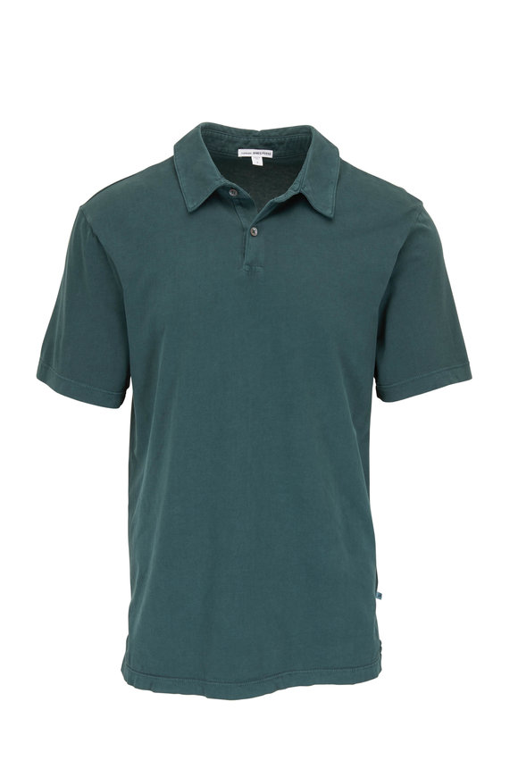 James Perse Canopy Green Jersey Knit Polo