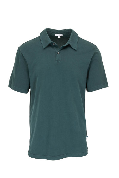 James Perse - Canopy Green Jersey Knit Polo