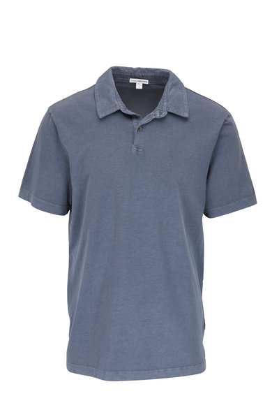 James Perse - Marine Blue Jersey Knit Polo