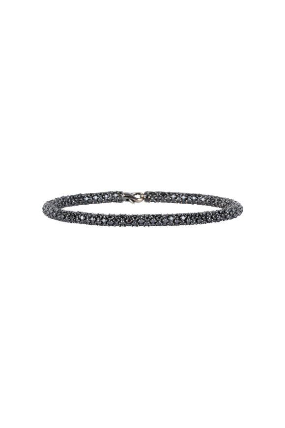 Sidney Garber 18K White Gold & Black Diamond Rope Bracelet