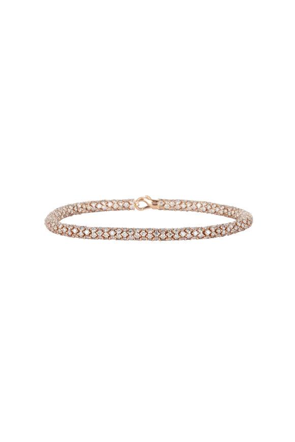 Sidney Garber 18K Rose Gold & Brown Diamond Rope Bracelet