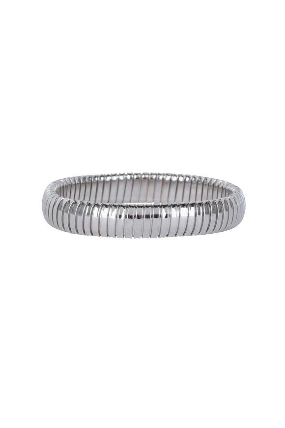 Sidney Garber 18K White Gold Single Rolling Bracelet