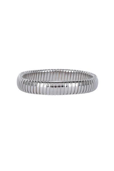Sidney Garber - 18K White Gold Single Rolling Bracelet
