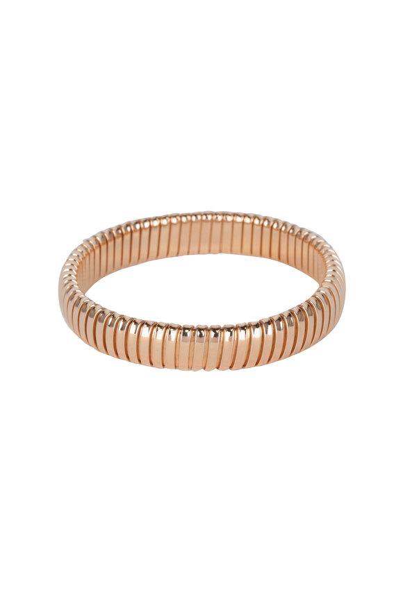 Sidney Garber 18K Rose Gold Single Rolling Bracelet