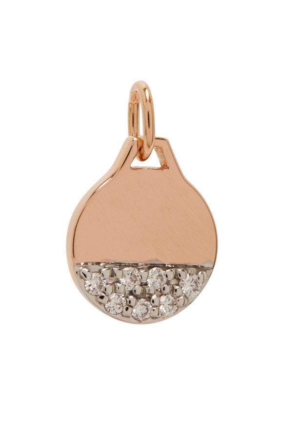 Walters Faith Dora 18K Rose Gold & Diamond Mini Round Disc Charm