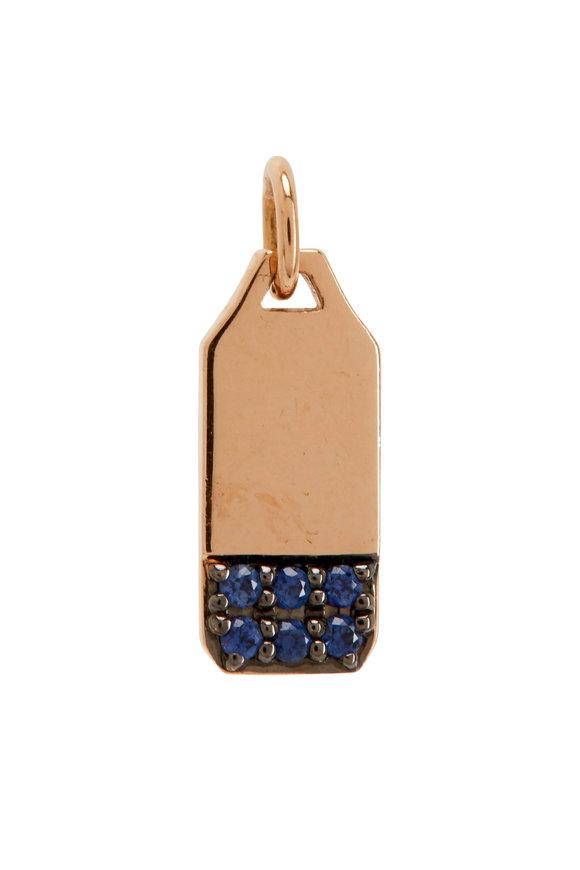 Walters Faith Dora 18K Rose Gold & Sapphire Mini Tablet Charm