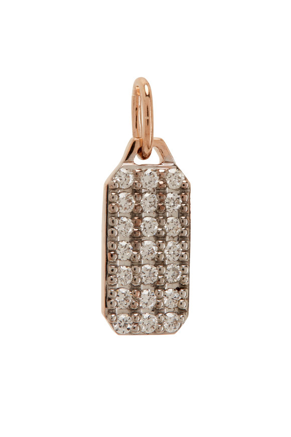 Walters Faith Dora 18K Rose Gold & Mini Diamond Hex Charm