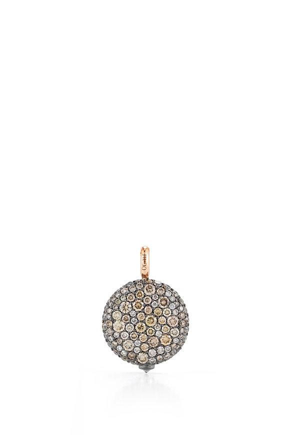 Walters Faith 18K Rose Gold & Champagne Diamond Pebble Charm