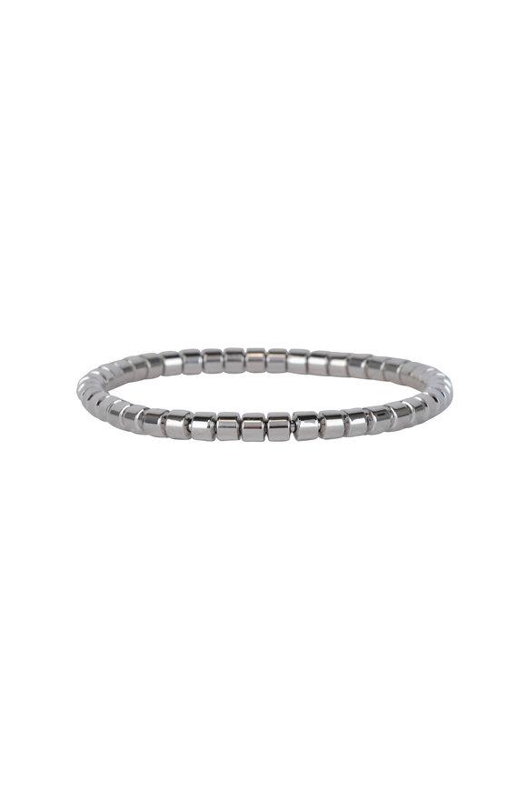 Sidney Garber Taren 18K White Gold Flex Bracelet