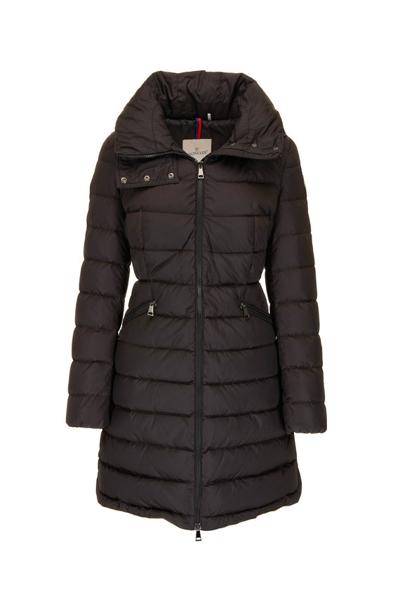 Moncler Flammette Black Zip-Away Hooded Puffer Jacket