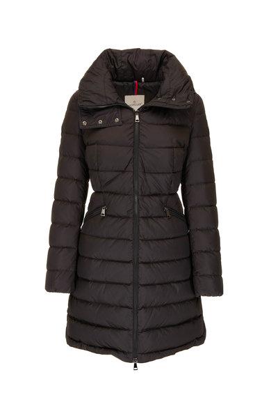 Moncler - Flammette Black Zip-Away Hooded Puffer Jacket