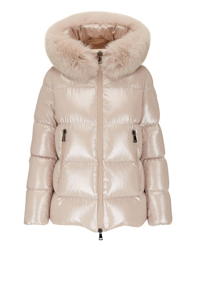 Moncler - Serifur Giubbotto Beige Detachable Fur Hoody Parka