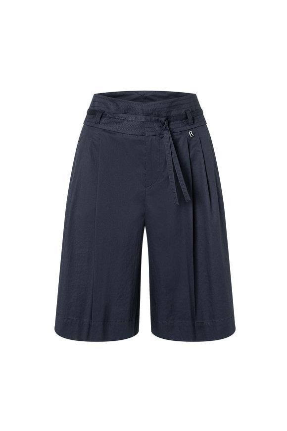 Bogner Hollie Fashion Navy Superfine Cotton Shorts
