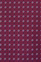Charvet - Navy& Red Diamonds Silk Necktie