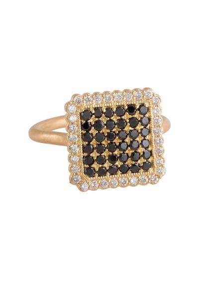 Jamie Wolf - Yellow Gold Black & White Diamond Ring