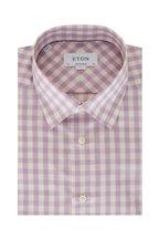 Eton - Lavender Gingham Contemporary Fit Sport Shirt