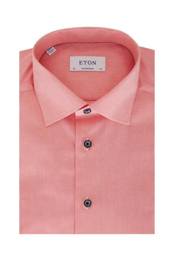 Eton Red Check Contemporary Fit Sport Shirt