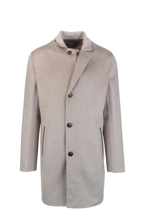 Kiton Tan Cashmere Long Coat