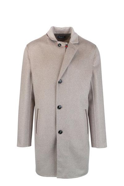 Kiton - Tan Cashmere Long Coat