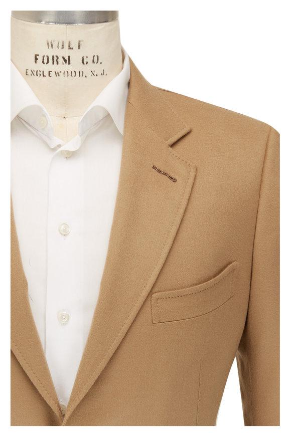 Tom Ford Camel Brushed Cashmere Sportcoat