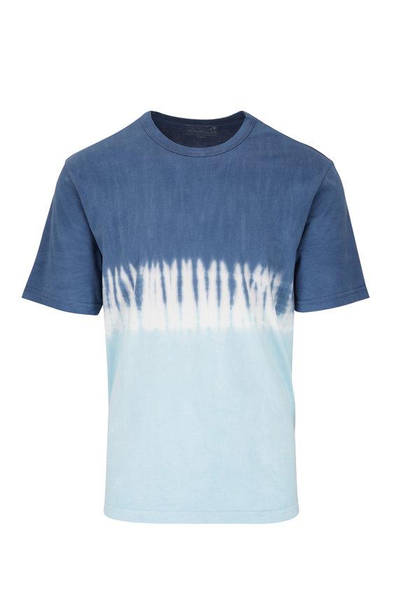 Faherty Brand Coastal Blue Tie-Dye T-Shirt