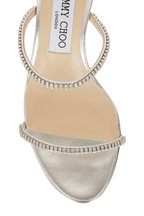 Jimmy Choo - Brea Silver Crystal Two-Band Sandal Slide, 65mm