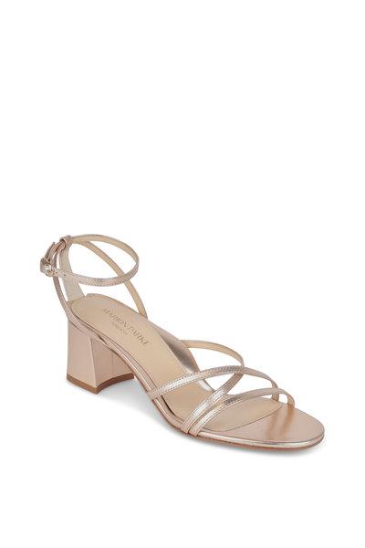 Marion Parke - Bianca Rose Gold Leather Strappy Sandal, 60mm