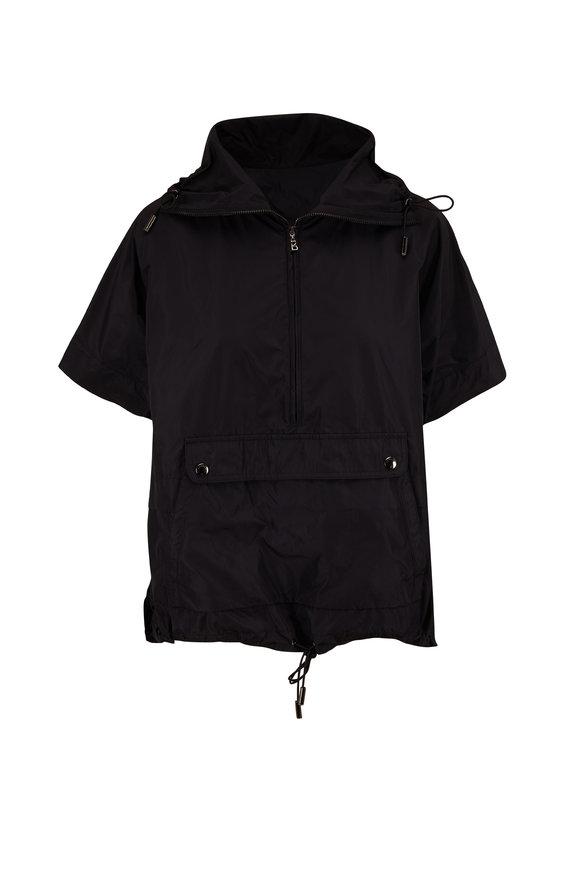 Bogner Noemie Black Tafetta Dolman Short Sleeve Top