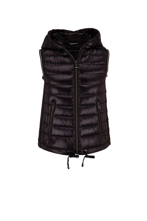 Bogner Teresa Black Hooded Puffer Vest