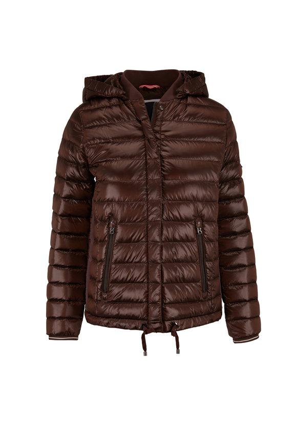 Bogner Tini Brown Detachable Hood Puffer Coat