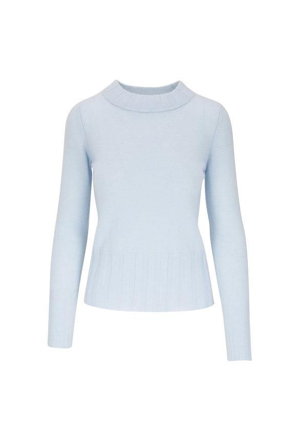Kinross Light Blue Cashmere High Neck Sweater