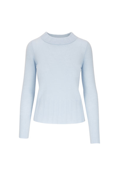 Kinross - Light Blue Cashmere High Neck Sweater
