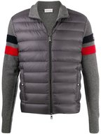 Moncler - Gray Quilted Front Zip Up Sweater