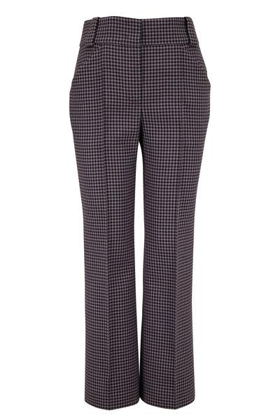 Fendi - Navy & Gray Check Wool Seamed Pant
