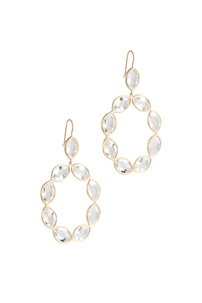 Jamie Wolf - Yellow Gold Linked Marquise White Topaz Earrings
