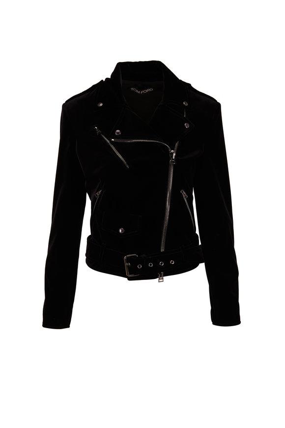 Tom Ford Black Velvet Moto Jacket