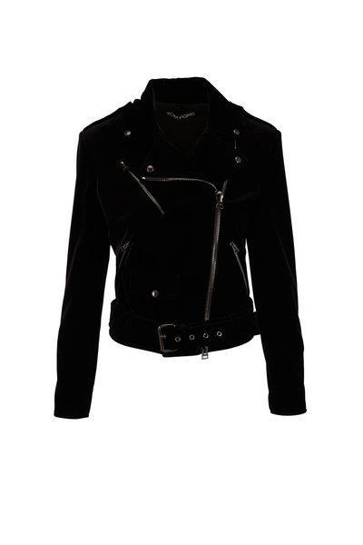 Tom Ford - Black Velvet Moto Jacket