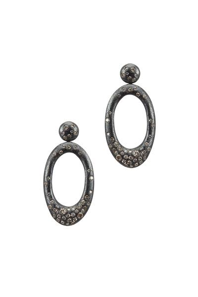 Todd Reed - Sterling Silver Brown Diamond Dangle Earrings