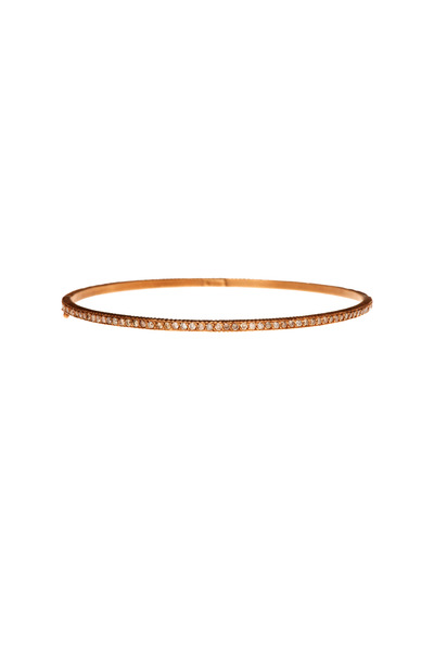Yossi Harari - Lilah Pavé-Set Cognac Diamond Bangle