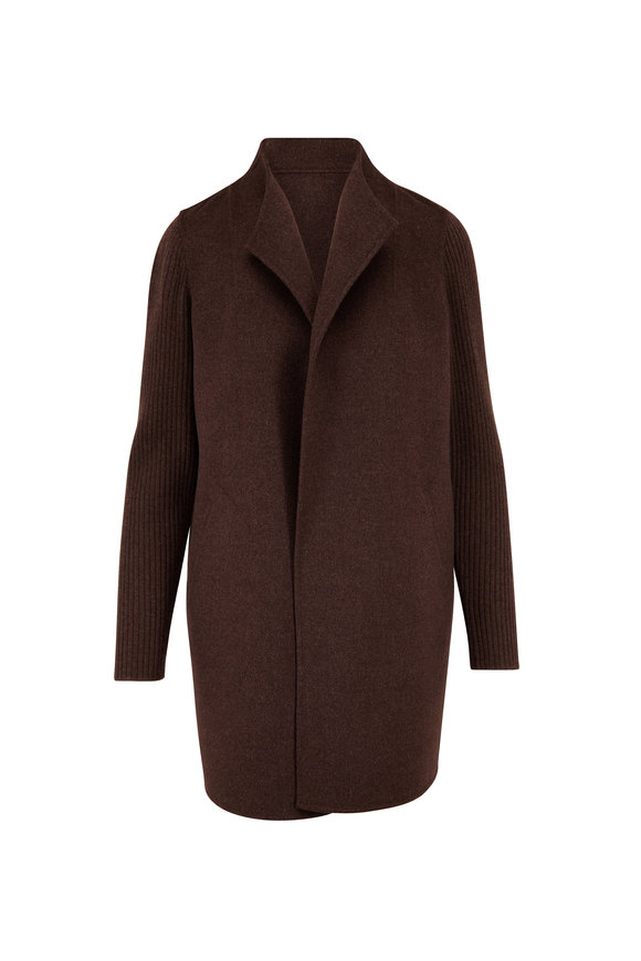 Kinross Cafe Wool & Cashmere Open Front Cardigan