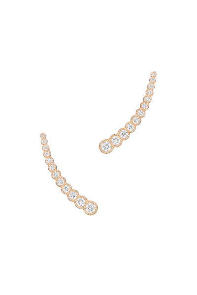 Penny Preville - Rose Gold Curved Diamond Earrings