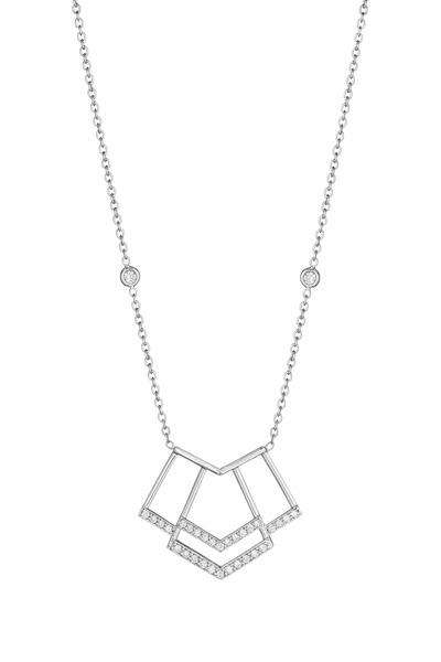 Penny Preville - White Gold Diamond Firebolt Necklace