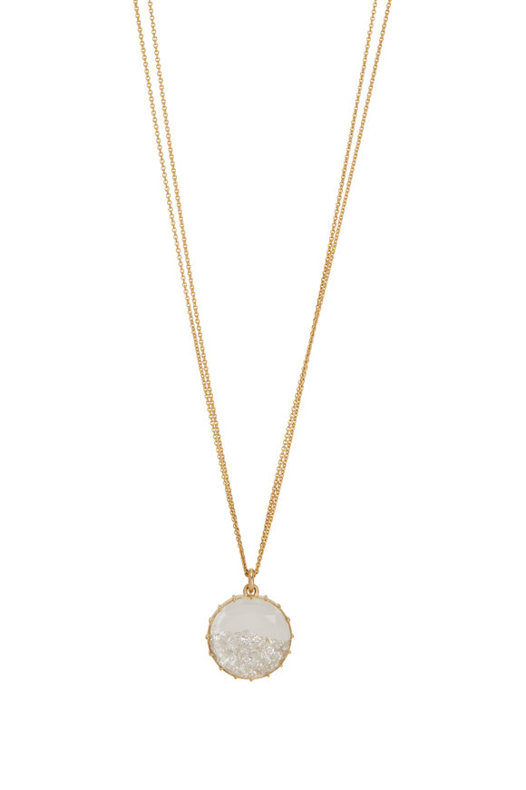 Renee Lewis 18K Yellow Gold White Diamond Shake Necklace