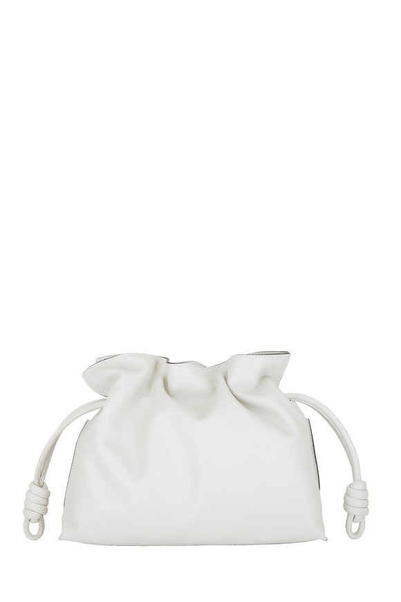 Loewe Flamenco Soft White Leather Clutch