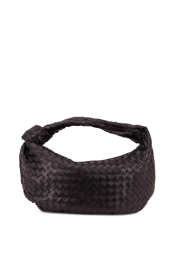 Bottega Veneta Jodie Black Leather Intrecciato Small Hobo Bag