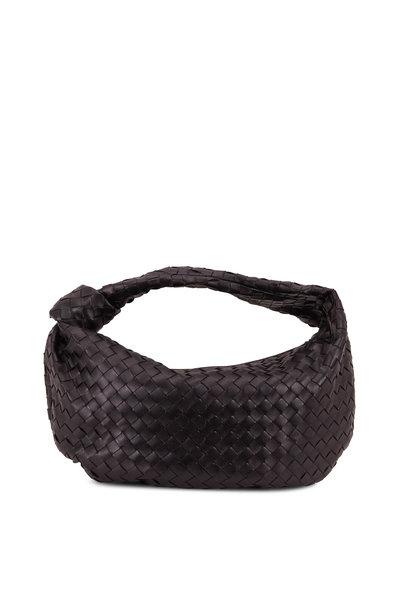 Bottega Veneta - Jodie Black Leather Intrecciato Small Hobo Bag